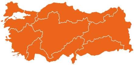 Regions of Turkey map